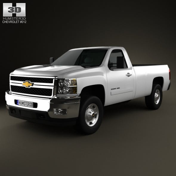 Chevrolet Silverado HD RegularCab LongBed 2011 - 3DOcean Item for Sale