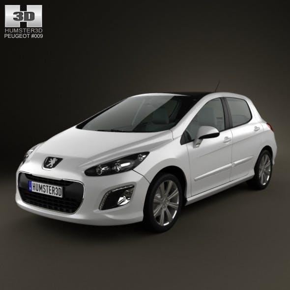 Peugeot 308 2012 - 3DOcean Item for Sale