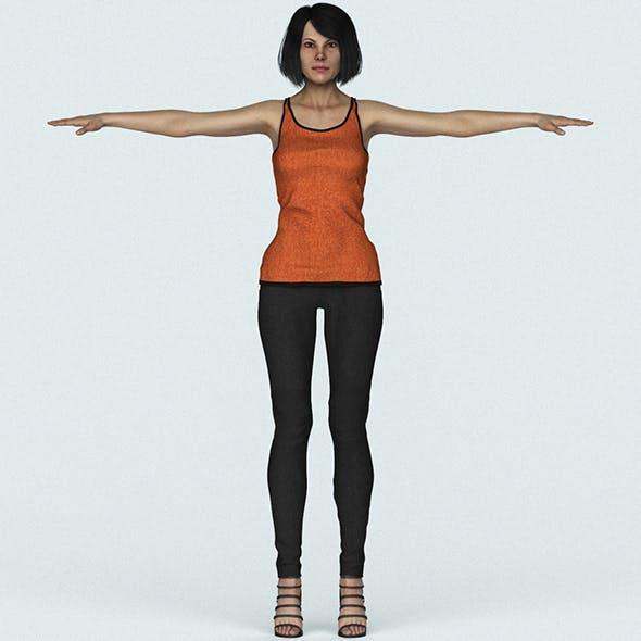 Realistic Beautiful Woman 3D Character