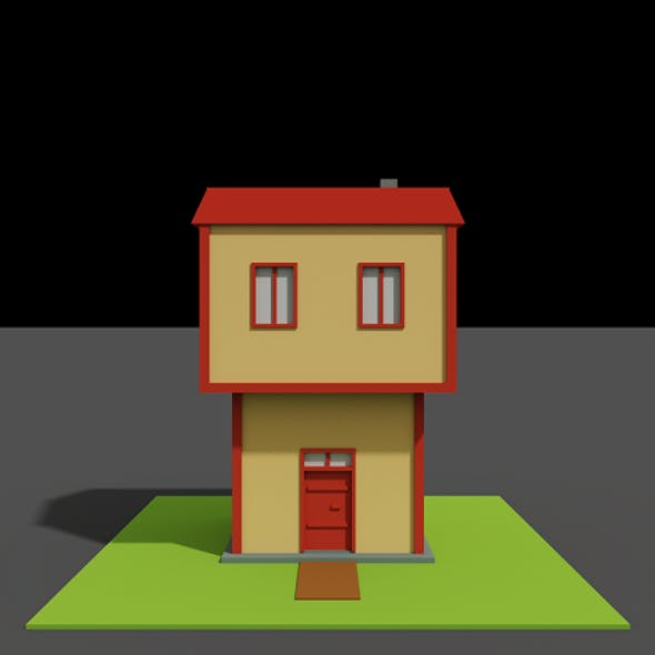 Low Poly Bay House - Voxel - for game VR AR 3D Printing