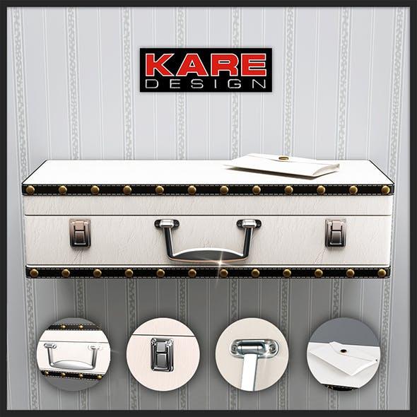 Shelf Kare Design Wall Shelf Suitcase White 1Drw 78364