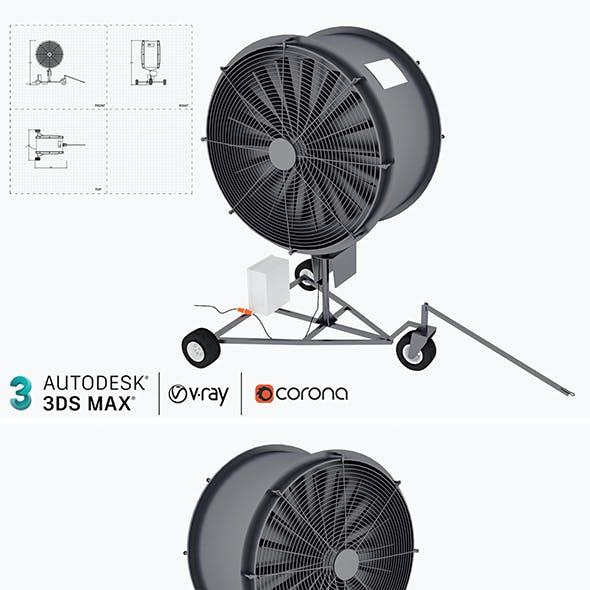 Industrial Turf Fan 3D model