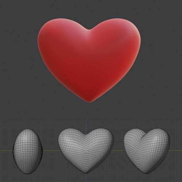 Heart Mesh - 3DOcean Item for Sale