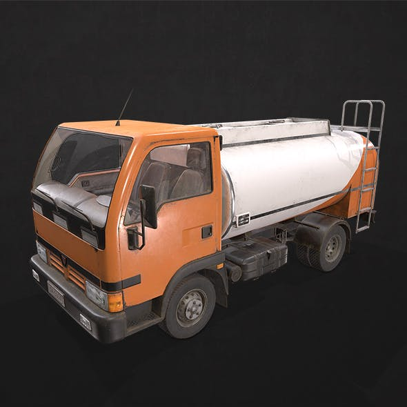 Light Truck Cistern - Low Poly - 3DOcean Item for Sale