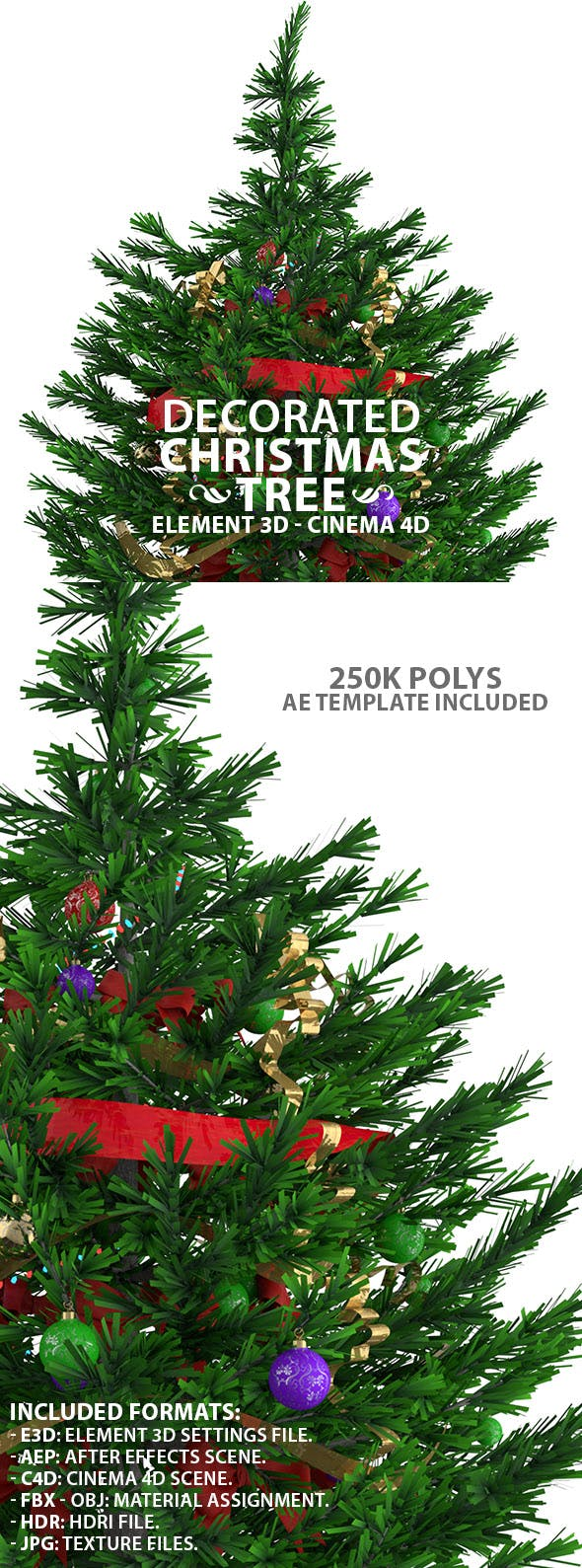 Decorated Christmas Tree - 3DOcean Item for Sale