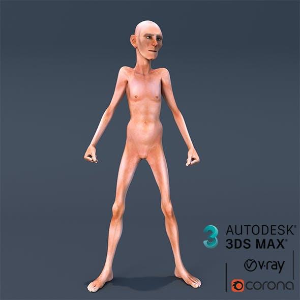 Old Slim Man 3D Character