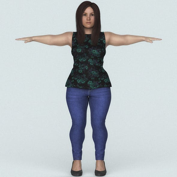 Beautiful Midget Woman 3D Character