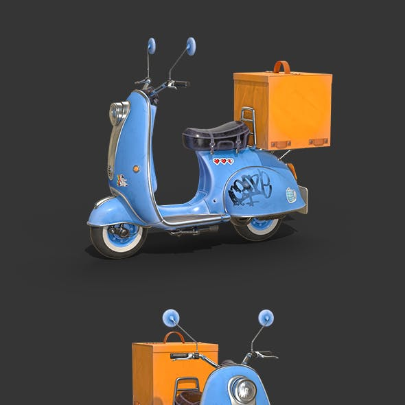 Vespa Delivery Scooter