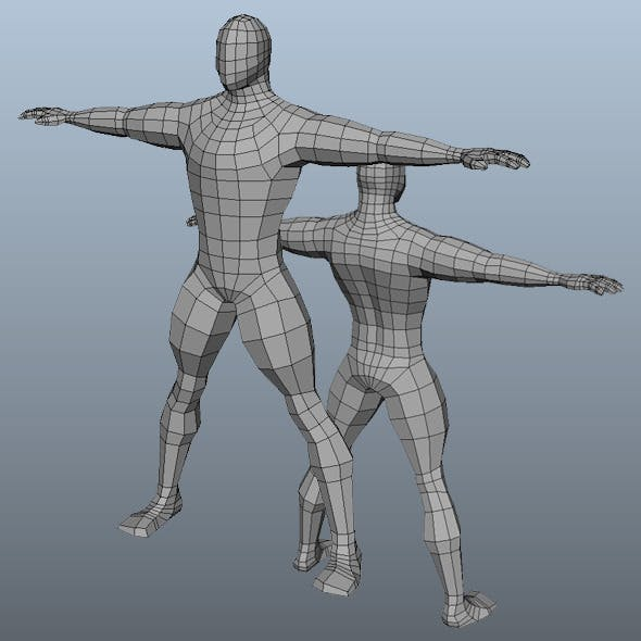 Base Mesh Man Model - 3DOcean Item for Sale
