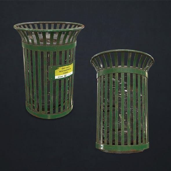 Waste Bin - Low Poly - 3DOcean Item for Sale