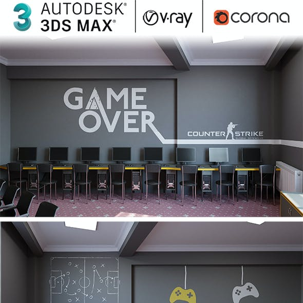Playstation And Pc Game Room Design