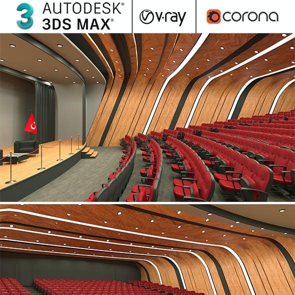 Auditorium, Theater Hall Realistic Design