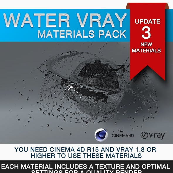 Water VRay Pack Materials