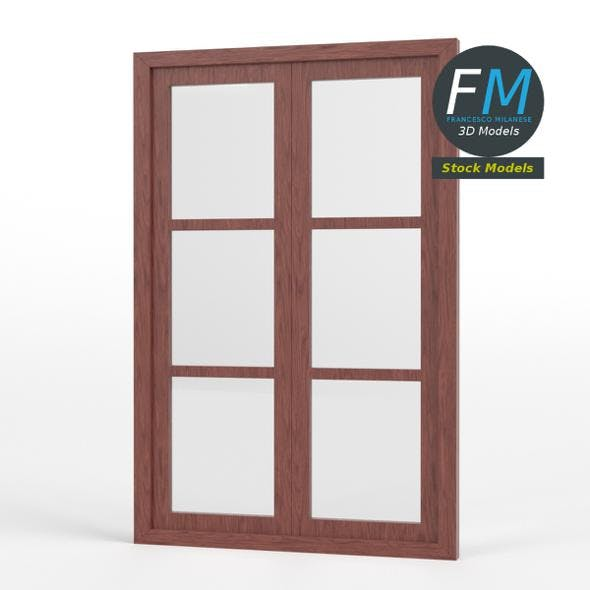 Six panel double window - 3DOcean Item for Sale