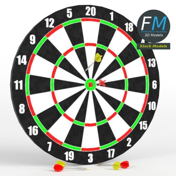 Darts with target 1