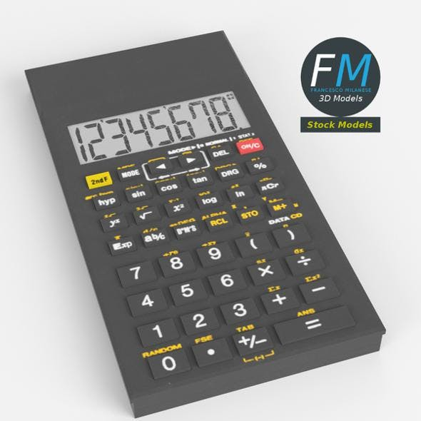 Electronic calculator 2 - 3DOcean Item for Sale