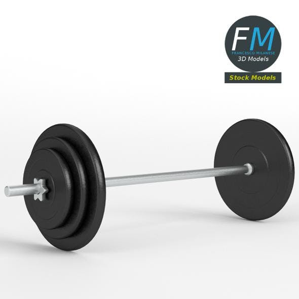 Gym equipment plate and bar - 3DOcean Item for Sale