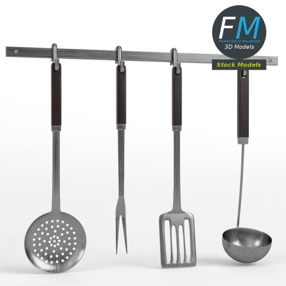 Kitchen tools utensil rack