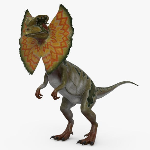 Dilophosaurus with Neck Frill HD