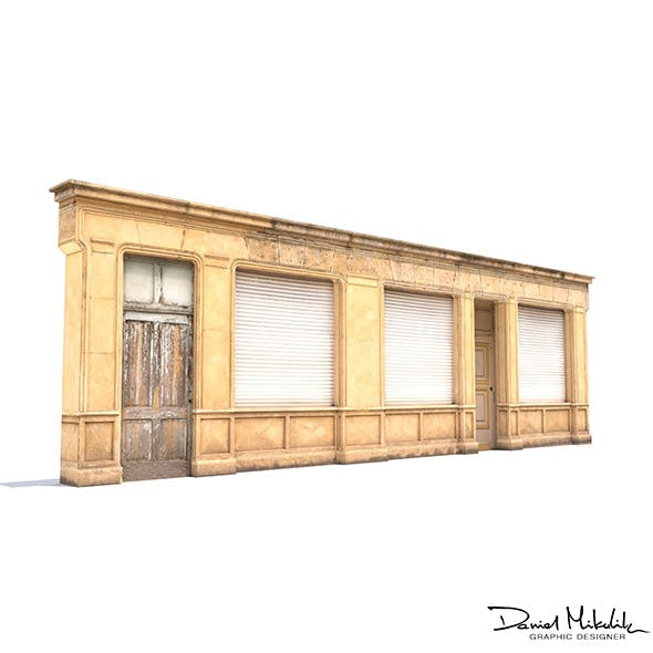 Store Facade Low Poly - 3DOcean Item for Sale