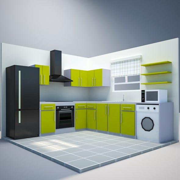 Low Poly Kitchen
