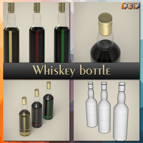 Whiskey bottle - 3DOcean Item for Sale