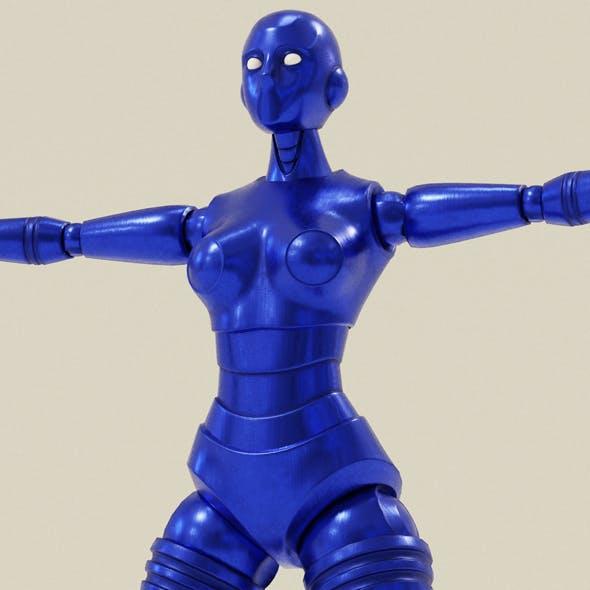 Blue Robot Woman