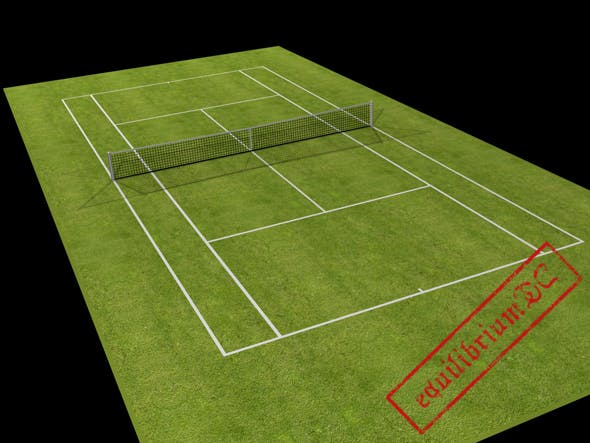 [Tennis series] Low-poly tennis court  - 3DOcean Item for Sale