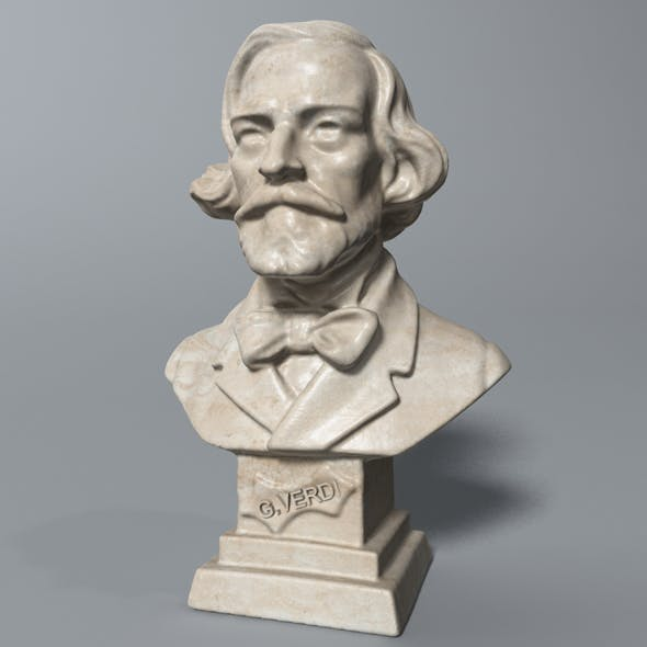 Verdi Bust - 3DOcean Item for Sale