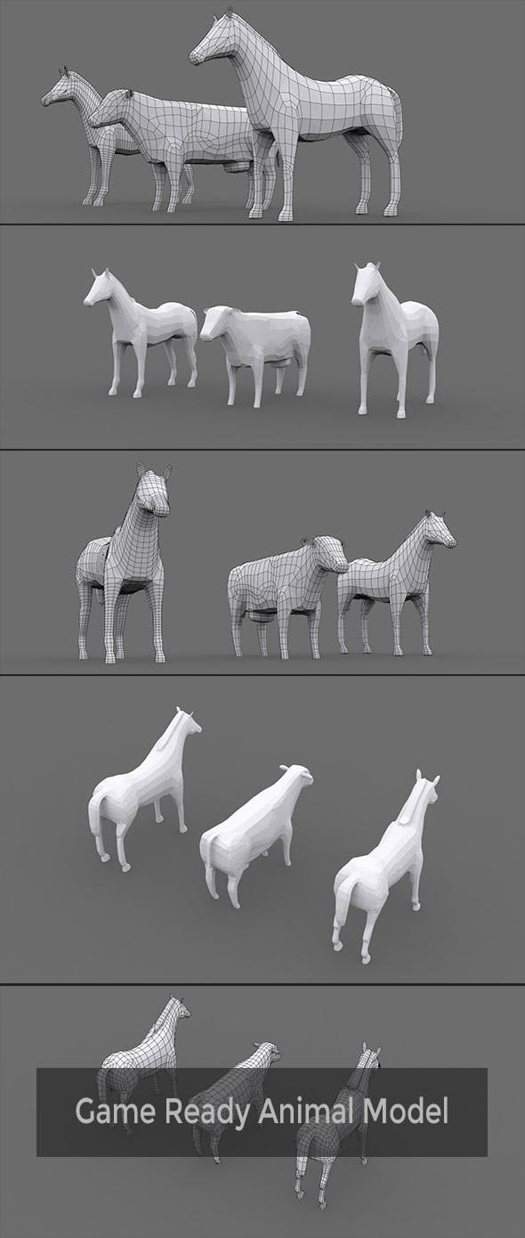 Low Poly Animal Model - 3DOcean Item for Sale