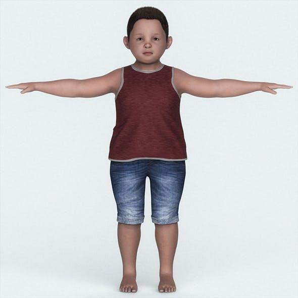 Fat Child Boy 3D Character