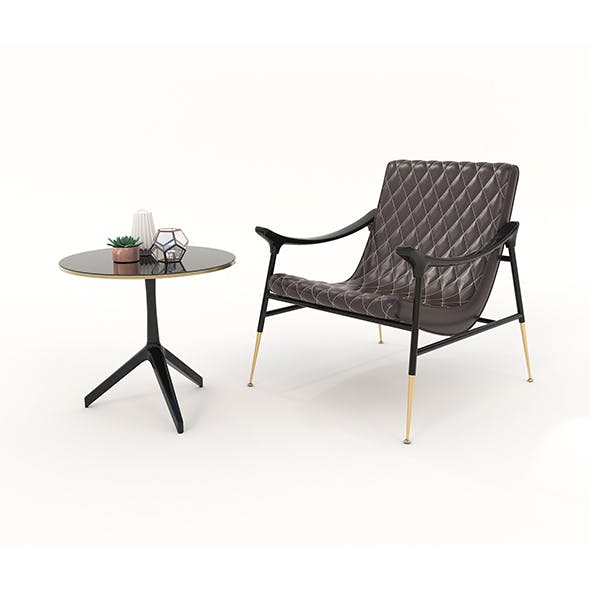 Relaxing Chairs and Coffee Table 5 - 3DOcean Item for Sale