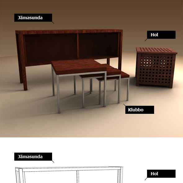 Ikea set - 3 pieces
