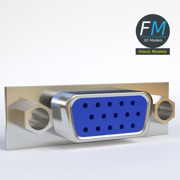 VGA female connector 2 - 3DOcean Item for Sale