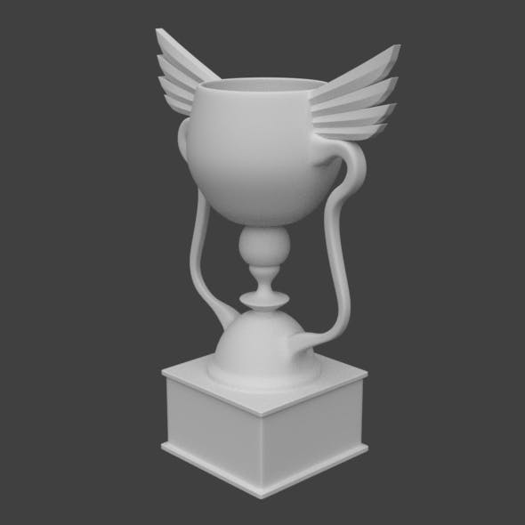 Award cup high poly - 3DOcean Item for Sale