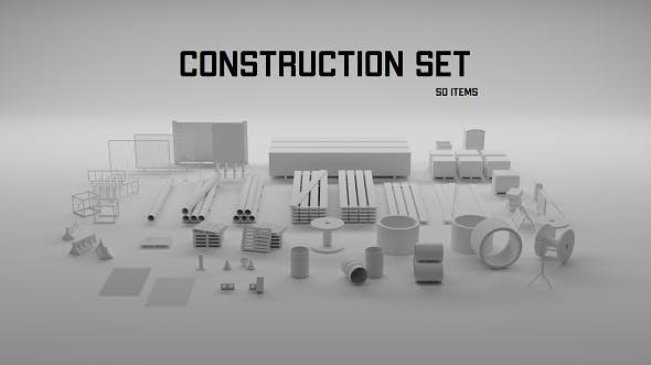 construction set - 3DOcean Item for Sale