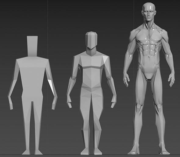 body block - 3DOcean Item for Sale