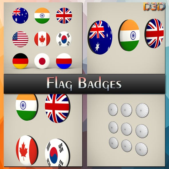 Flag Badges Collections