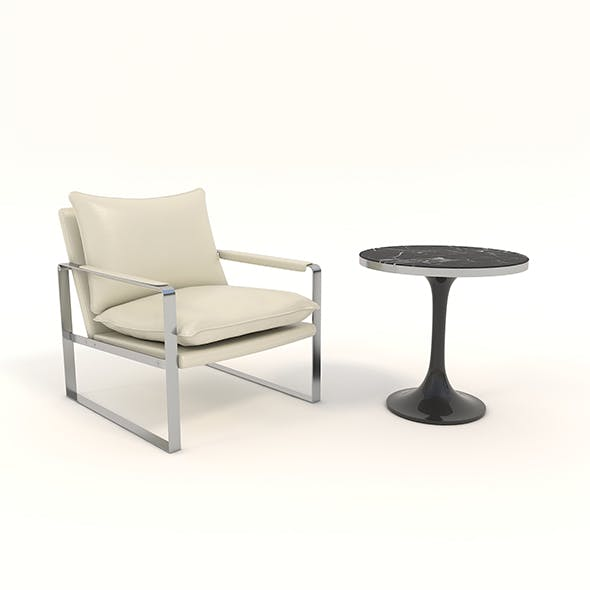 Relaxing Chair and Coffee Table 6 - 3DOcean Item for Sale