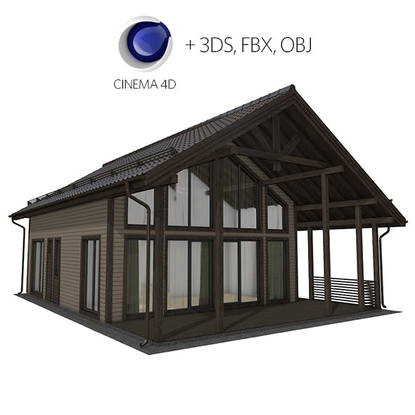 Frame house - 3DOcean Item for Sale