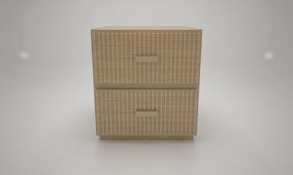 Two Drawers Oak Wood Komod - 3DOcean Item for Sale