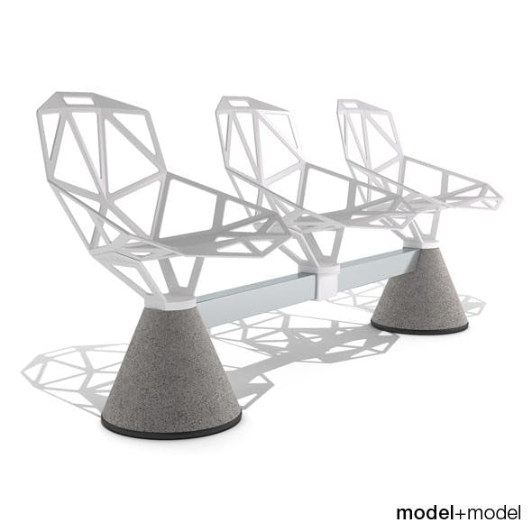 Magis Chair_One Public Seating System 1 - 3DOcean Item for Sale