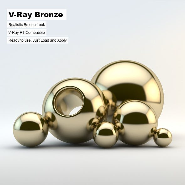 V-Ray Bronze Material - 3DOcean Item for Sale