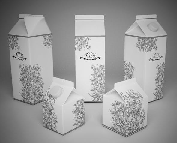 Milk Cartons - 3DOcean Item for Sale