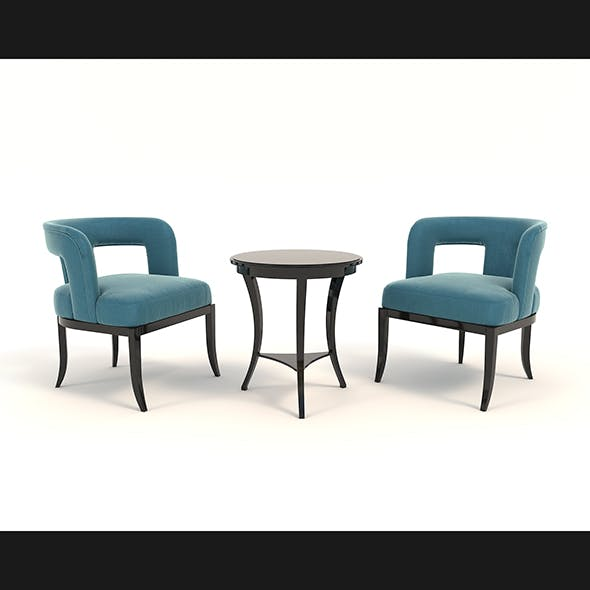 Coffee Table and Chairs 5 - 3DOcean Item for Sale