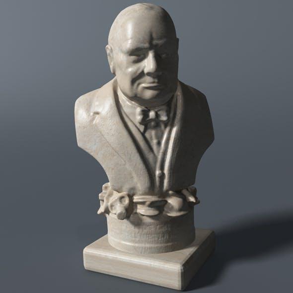 Winston Churchill Bust - 3DOcean Item for Sale