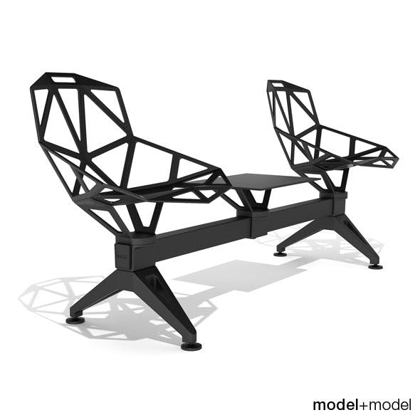 Magis Chair_One Public Seating System 2 - 3DOcean Item for Sale