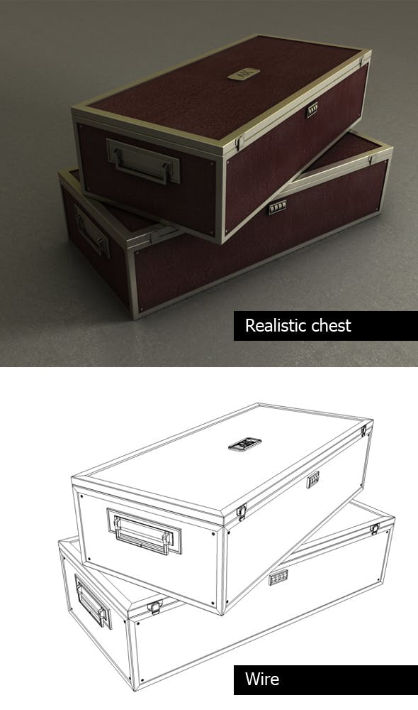 Realistic chest - 3DOcean Item for Sale