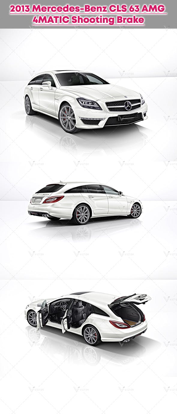 2013 Mercedes-Benz CLS 63 AMG 4MATIC Shooting Brake - 3DOcean Item for Sale