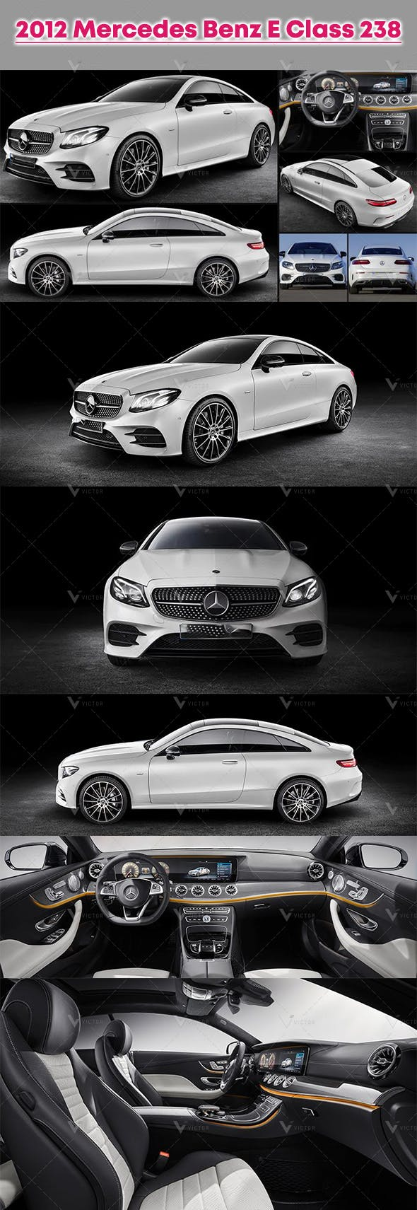 2012 Mercedes Benz E Class 238 - 3DOcean Item for Sale